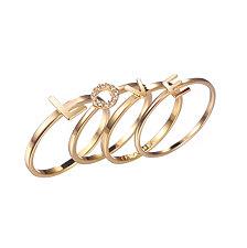 "ADORNIA ""LOVE"" stack ring set"