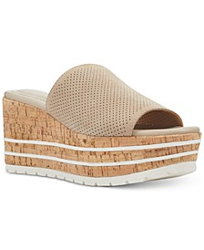Reagan Cork Wedge Sandals