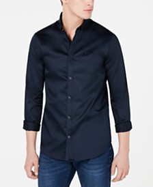 A|X Armani Exchange Men's Satin Shirt