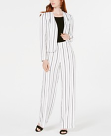 Bar III Striped Jacket, Sweater & Striped Pants, Created for Macy's
