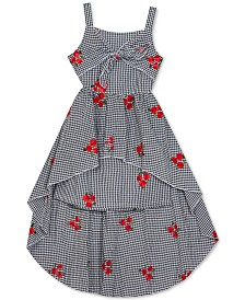 Rare Editions Big Girls Embroidered Seersucker Cotton Dress