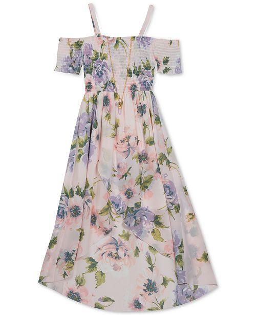Rare Editions Big Girls Plus-Size Floral-Print Maxi Dress