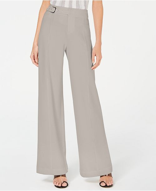 INC International Concepts I.N.C. Side-Belt Wide-Leg Pants, Created for Macy's