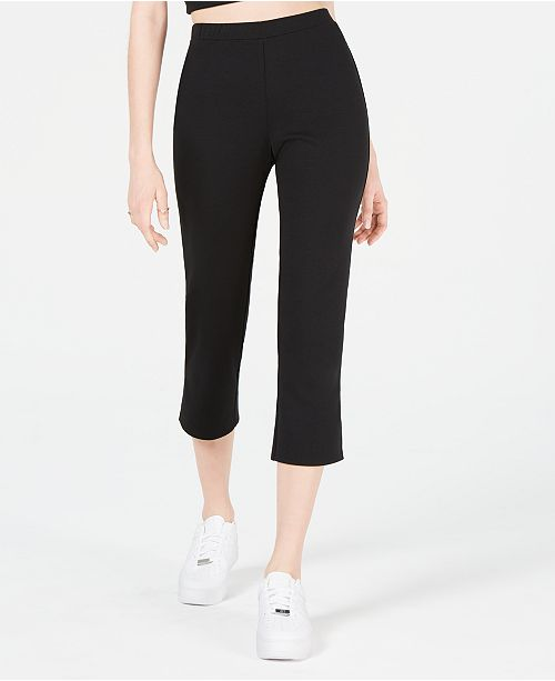 Material Girl Juniors' Cropped Flare-Leg Pants, Created for Macy's