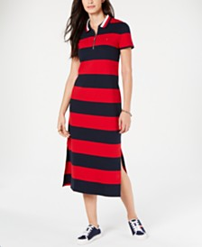 Tommy Hilfiger Striped Polo Dress
