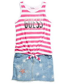 GUESS Big Girls Tank Top & Denim Skirt