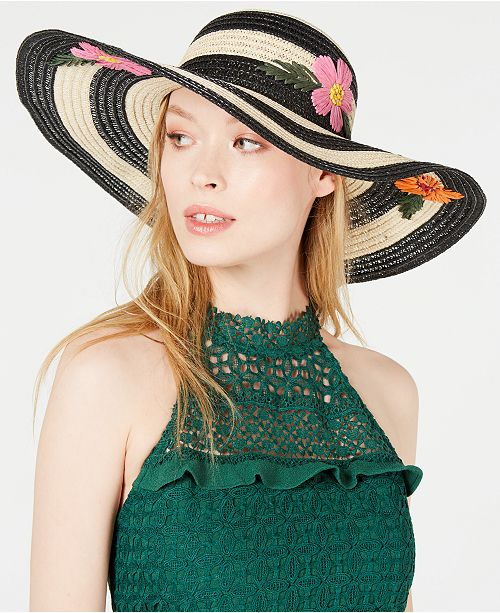 8a2404e712b044 Betsey Johnson Floral Bliss Floppy Hat & Reviews - Handbags ...