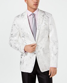 Tallia Men's Slim-Fit Floral Linen Sport Coat