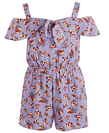 Monteau Big Girls Floral-Print Romper