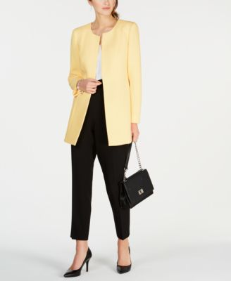 Textured Crepe Topper Jacket