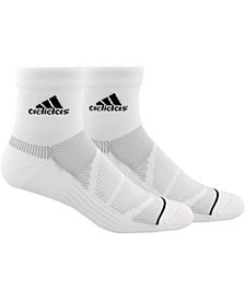 adidas Men's 2-Pk. Prime Mesh III Quarter Socks