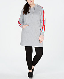 Calvin Klein Performance Plus Size Logo Hoodie Dress