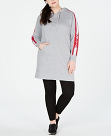 Calvin Klein Performance Plus Size Logo Hoodie Dress