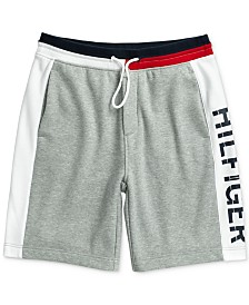 Tommy Hilfiger Adaptive Men's Logo Graphic Shorts with Slide Loop Closure