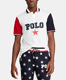 Polo Ralph Lauren Men's Classic-Fit Mesh Polo Americana Shirt, Created for Macy's