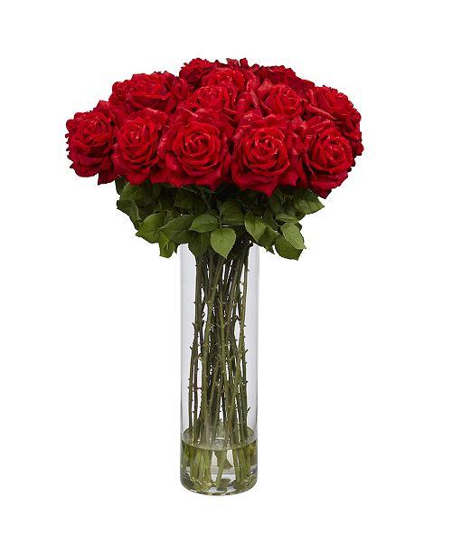 Nearly Natural Giant Rose Silk Flower Arrangement