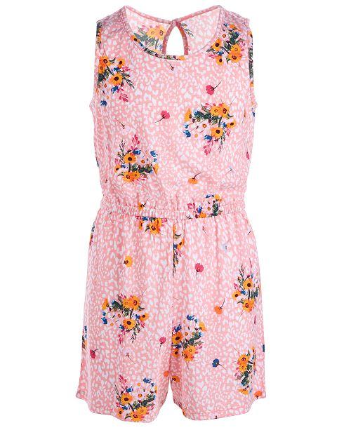Belle Du Jour Big Girls 2-Pc. Floral-Print Kimono & Romper Set
