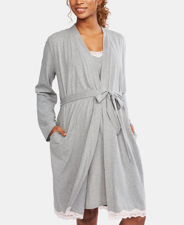 Motherhood Maternity - Lace-Trim Nursing Nightgown & Robe
