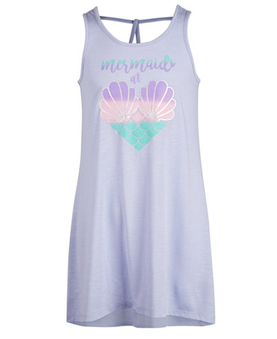 Miken Big Girls Mermaid Heart Graphic Cover Up