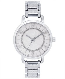 Women's Silver-Tone Textured Bracelet Watch 35mm, Created for Macy's