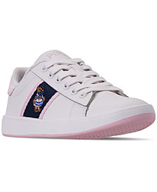 Polo Ralph Lauren Little Girls' Quilton Bear Casual Sneakers from Finish Line