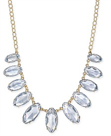 "I.N.C. Gold-Tone Thread-Wrapped Stone Statement Necklace, 20"" + 3"" extender, Created for Macy's"