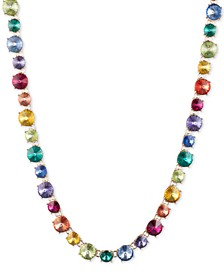 """Gold-Tone Rainbow All-Around Necklace, 16"""" + 3"""" extender"""