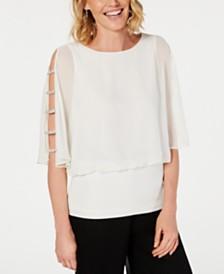 MSK Embellished-Sleeve Top