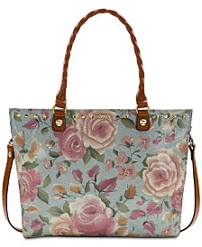 Patricia Nash Zancona Crackled Rose Garden Tote