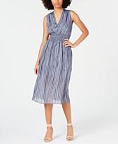 ce09971d53eb I.N.C. Petite Smocked Split-Skirt Dress