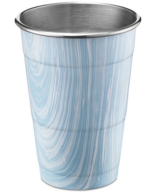 Thirstystone CLOSEOUT 18-oz. Blue Marble Stainless Steel All-Purpose Cup