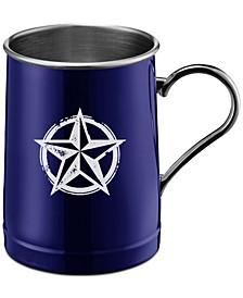 Blue Texas Lone Star Stainless Steel Beer Mug