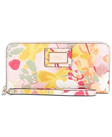 GUESS Shannon Floral Zip Around Wallet