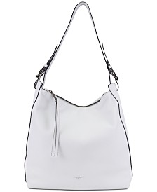 T Tahari Kerry Leather Bucket Bag