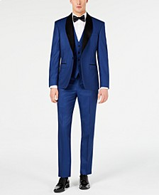 Men's Slim-Fit Stretch Cobalt Blue Tuxedo Suit Separates, Created for Macy's