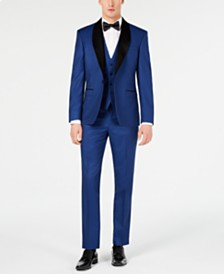 Ryan Seacrest Distinction™ Men's Slim-Fit Stretch Cobalt Blue Tuxedo Suit Separates, Created for Macy's