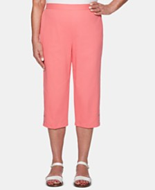 Alfred Dunner Smooth Sailing Pull-On Capris