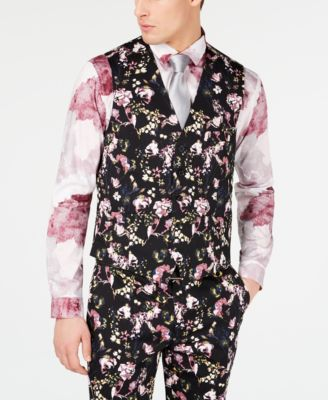 I.N.C. Men's Slim-Fit Floral Vest, Created for Macy's