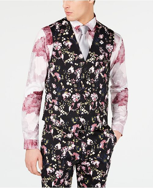 INC International Concepts I.N.C. Men's Slim-Fit Floral Vest, Created for Macy's