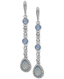 Givenchy Crystal & Stone Linear Extra Large Drop Earrings