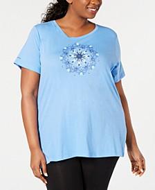 Plus Size Graphic-Print Active T-Shirt