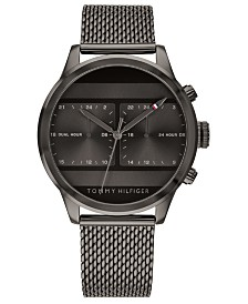 Tommy Hilfiger Men's Gray Mesh Bracelet Watch 40mm Created for Macy's