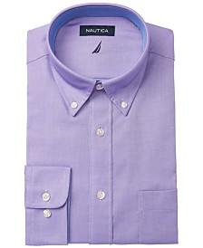 Nautica Men's Classic/Regular Fit Stretch Solid Oxford Dress Shirt