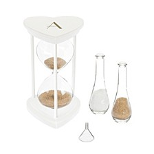 Personalized Gold Unity Sand Ceremony Hourglass Set