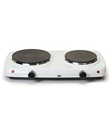 Elite Cuisine Electric Double Cast Burner Hot Plate