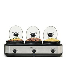 Elite Platinum 3 x 2.5 Quart Triple Slow Cooker