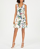 45491b52da9 Taylor Petite Floral-Printed Flounce Dress