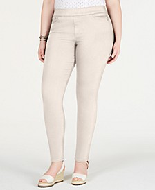 Plus Size Gramercy Sateen Ankle Pants, Created for Macy's