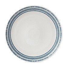 Crafted by Royal Doulton Cobalt Blue Chevron Dinner Plate