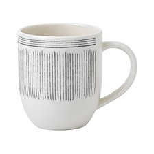 Crafted by Royal Doulton Charcoal Grey Lines Mug